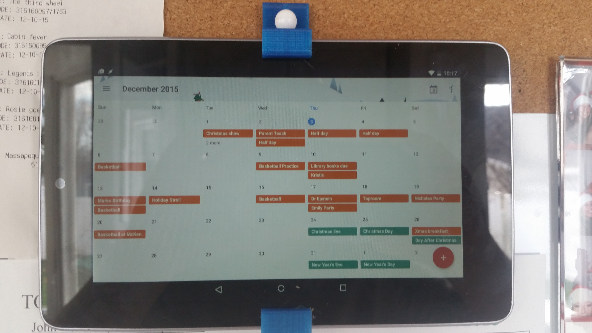 Picture of Motion Activated Digital Calendar