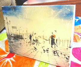 Turn a poster into canvas art