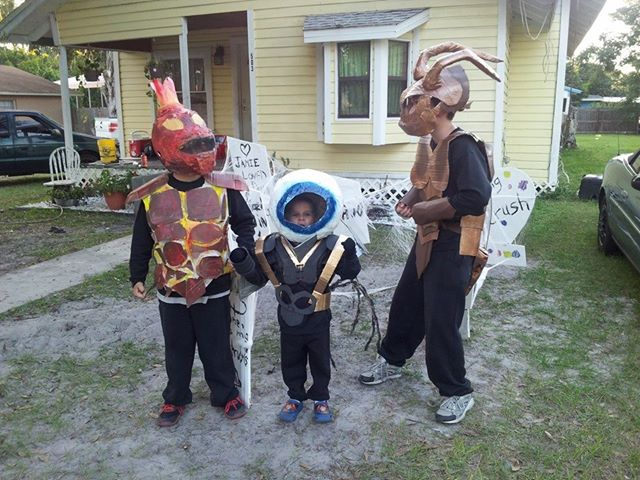 Picture of My Boys Wanted to Be SkyLanders for Halloween This Year...