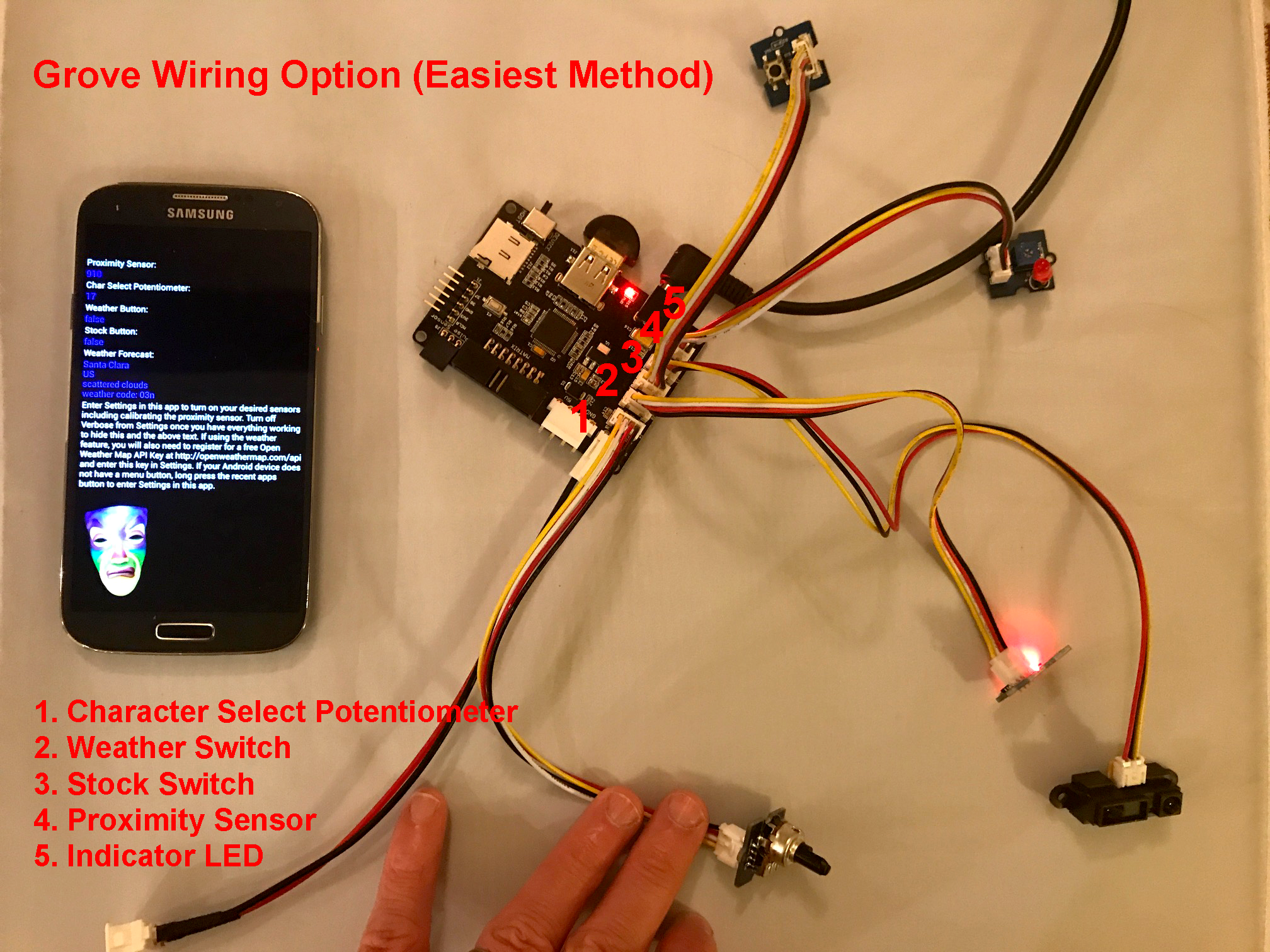 Picture of Wiring Up the Circuit With Grove Plug and Play Sensors - Easy Method