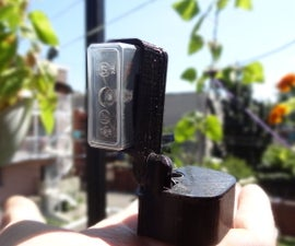 3D printed bike light without battery