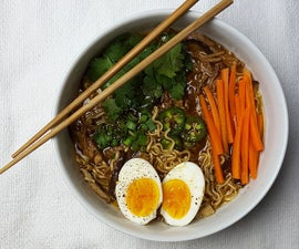 Slow Cooker Caramelized Pork Ramen Noodle Soup