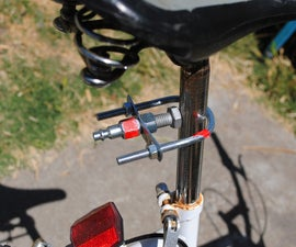 No Weld Bicycle Trailer Hitch
