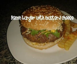 Bacon Burger With Mustard Cheese Recipe