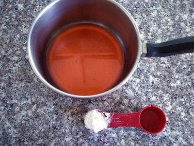 Making the Strawberry Lemonade Mint Sorbet