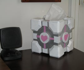 Companion Cube Tissue box