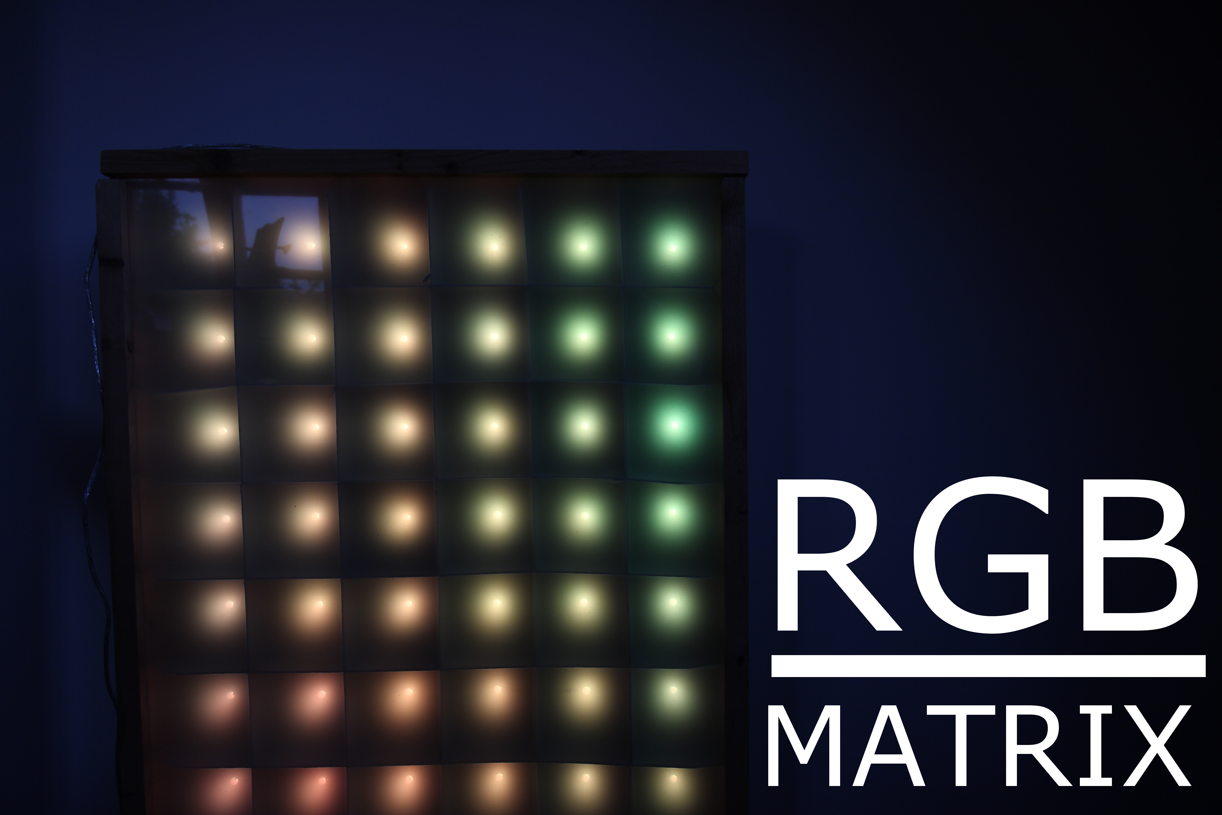 Picture of LED-matrix on a Budget