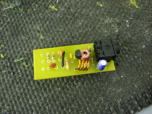 Picture of Solder on the Transistor