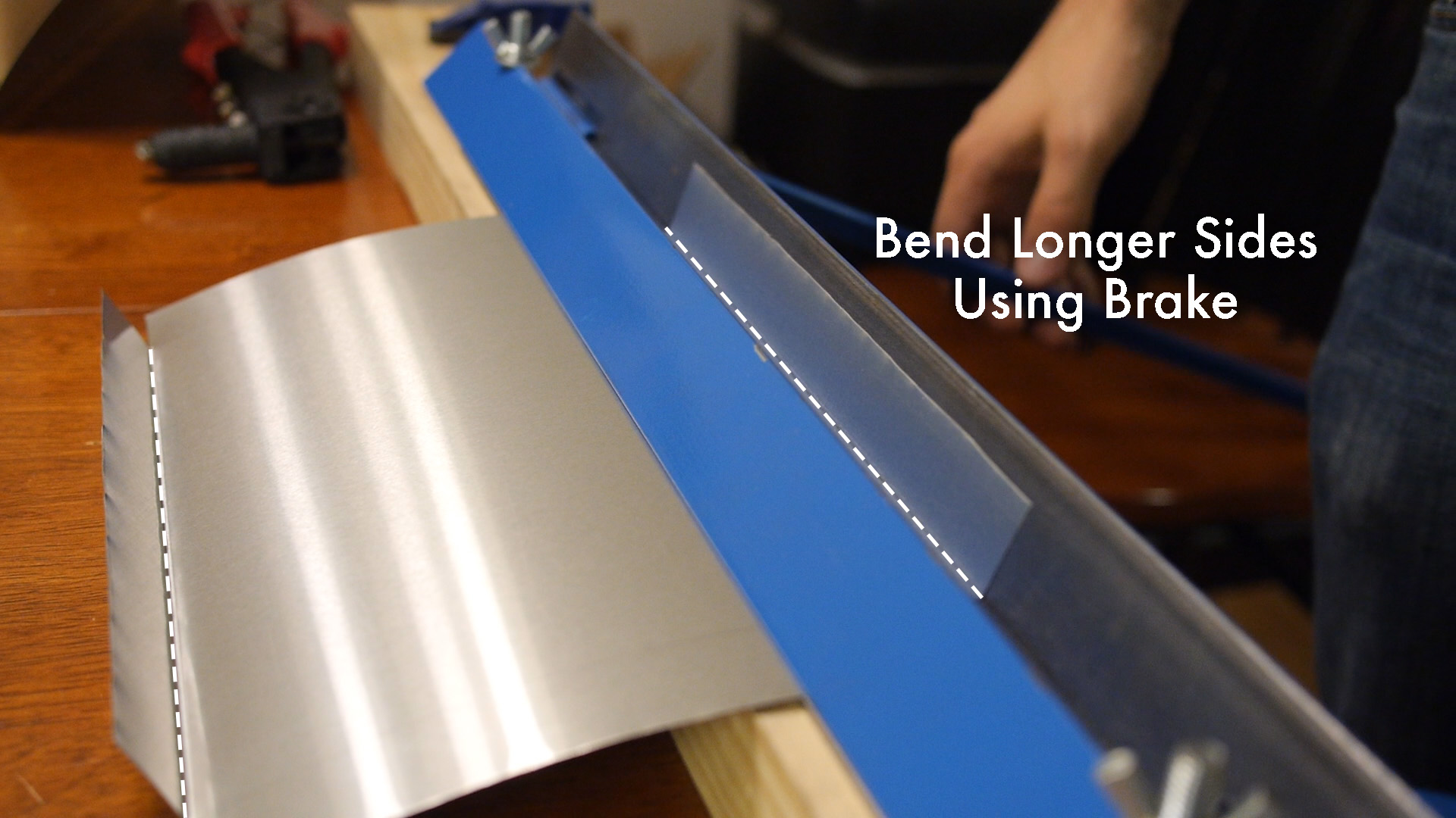 Picture of Bend the Long Edges of the Ends
