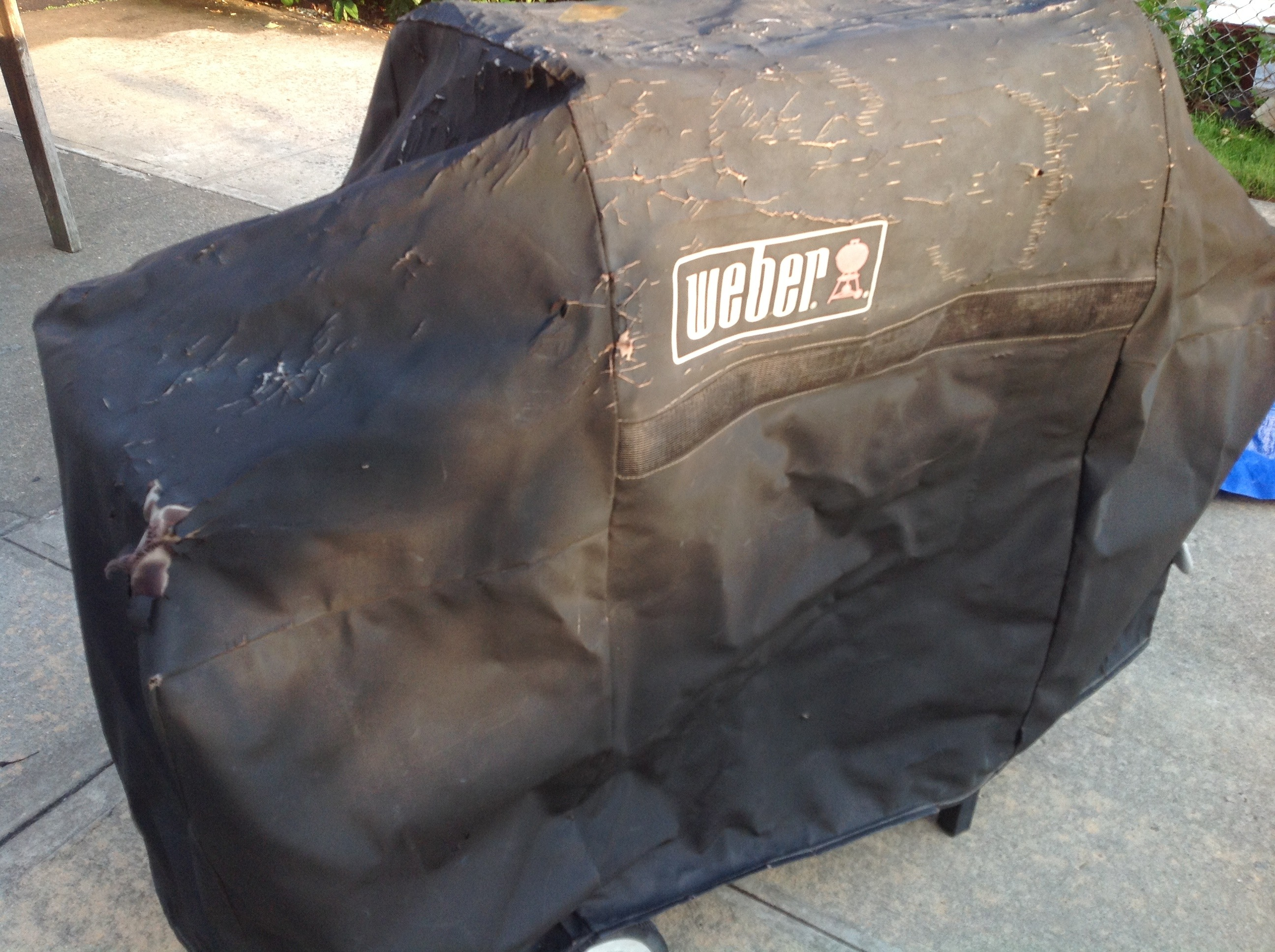 Picture of Cheap BBQ Cover Made From Tarp