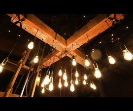 Retractable Barn Chandelier for My Sister's Wedding Reception