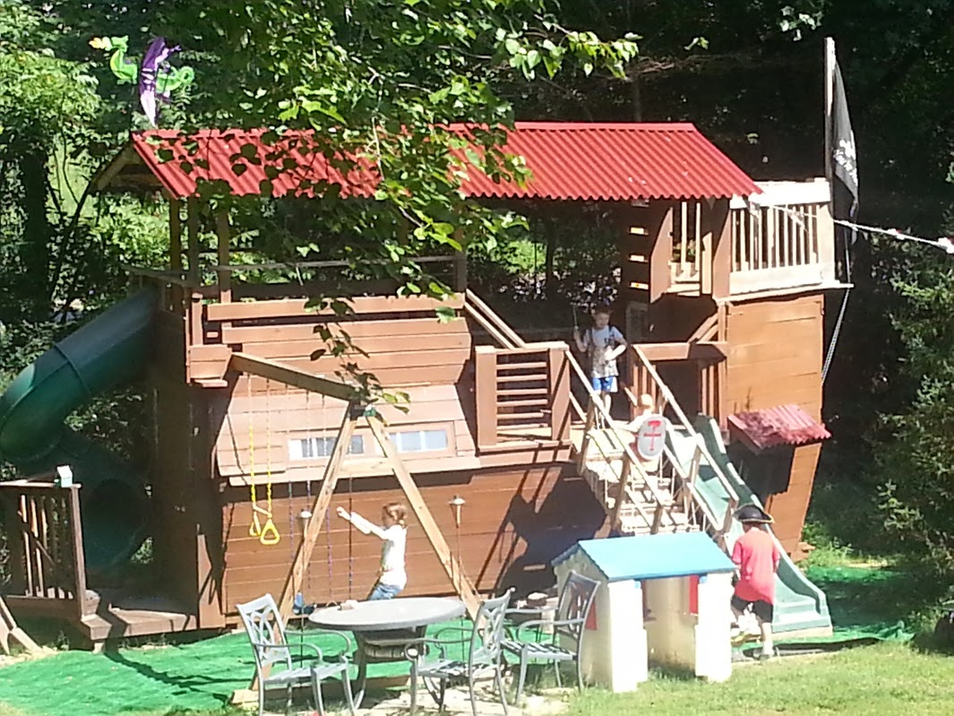 Picture of Pirate Ship Playhouse / Treehouse / Fort / Swingset / in Trouble With Wife