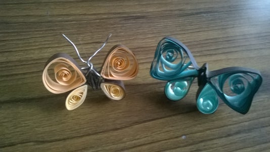 Quilled Butterfly Rings