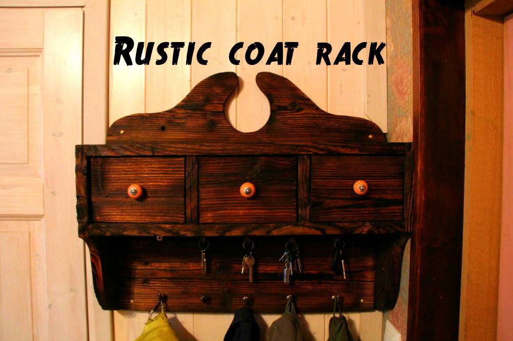 Picture of Rustic Coat Rack Using Shou-sugi-ban