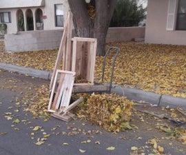 Baling Fall Leaves