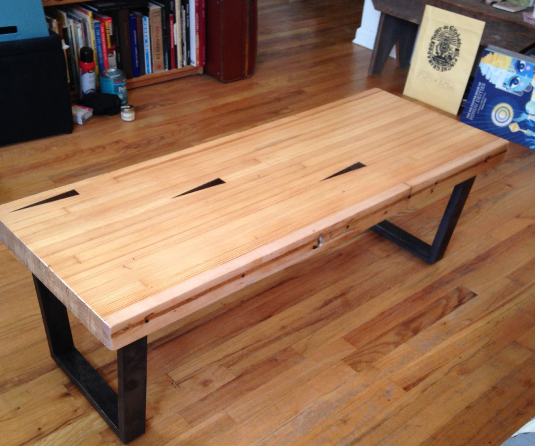 Coffee Table From Reclaimed Bowling Alley Lane - for a Non ...