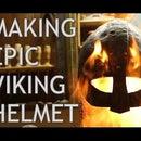 Viking Helmet Made Out of Wood Shavings