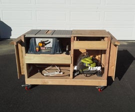 Table Saw and Miter Saw Cart