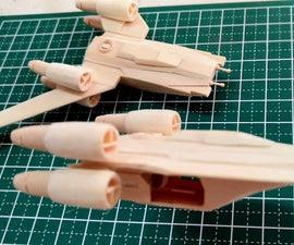 Rogue One Mini U-Wing Popsicle Stick Model