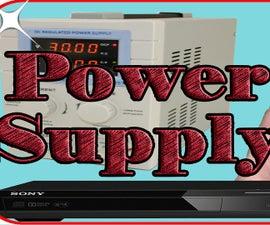 DIY DC Bench Power Supply Using the Dvd Player