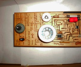 A 555 Tester & parts bin- steam punk / wood punk style -gift exchange
