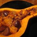 Vegan Pumpkin with Plums Desert