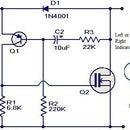 Simple Motor Bike indicater Flasher unit in a TIC TAK box