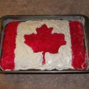 How to Make a Canadian Flag Sheet Cake