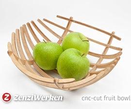 Fancy Wooden Fruit Bowl with 123D Make