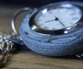 Blue Jean Pocket Watch