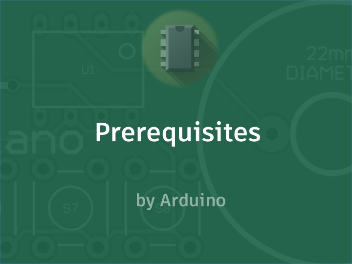 Picture of Prerequisites