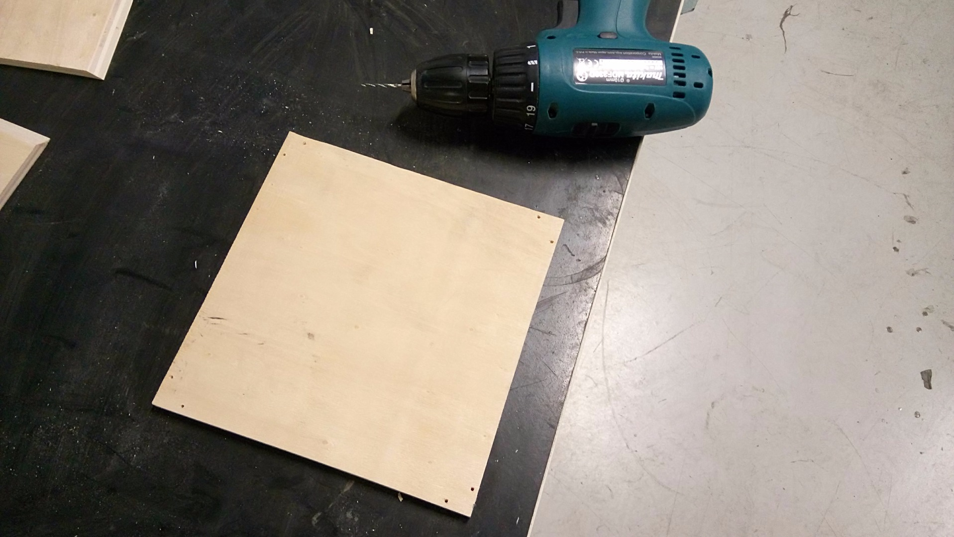 Picture of Cutting the Plywood Pieces.