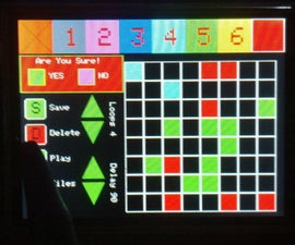 TFT Touch Screen Animation Engine and 8x8 RGB LED Matrix Controller