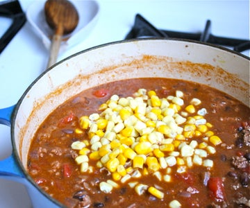Add the Corn and Check for Seasoning