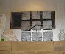 Handmade Wooden 9 Blocks Wall Clock