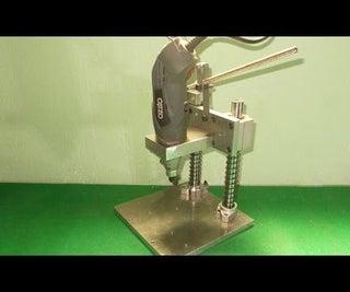 Homemade Mini Press Drill PCB DIY Convert Your Dremel Ozito to Drill