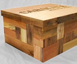 Secret Compartment Shoebox (with Pallet Wood Patchwork Hidden Latch)