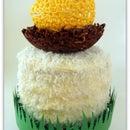 Egg Nest Coconut Cake