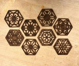 Japanese Latticework-Inspired Kumiko Coasters