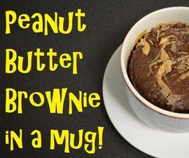 Peanut Butter Brownie in a Mug!