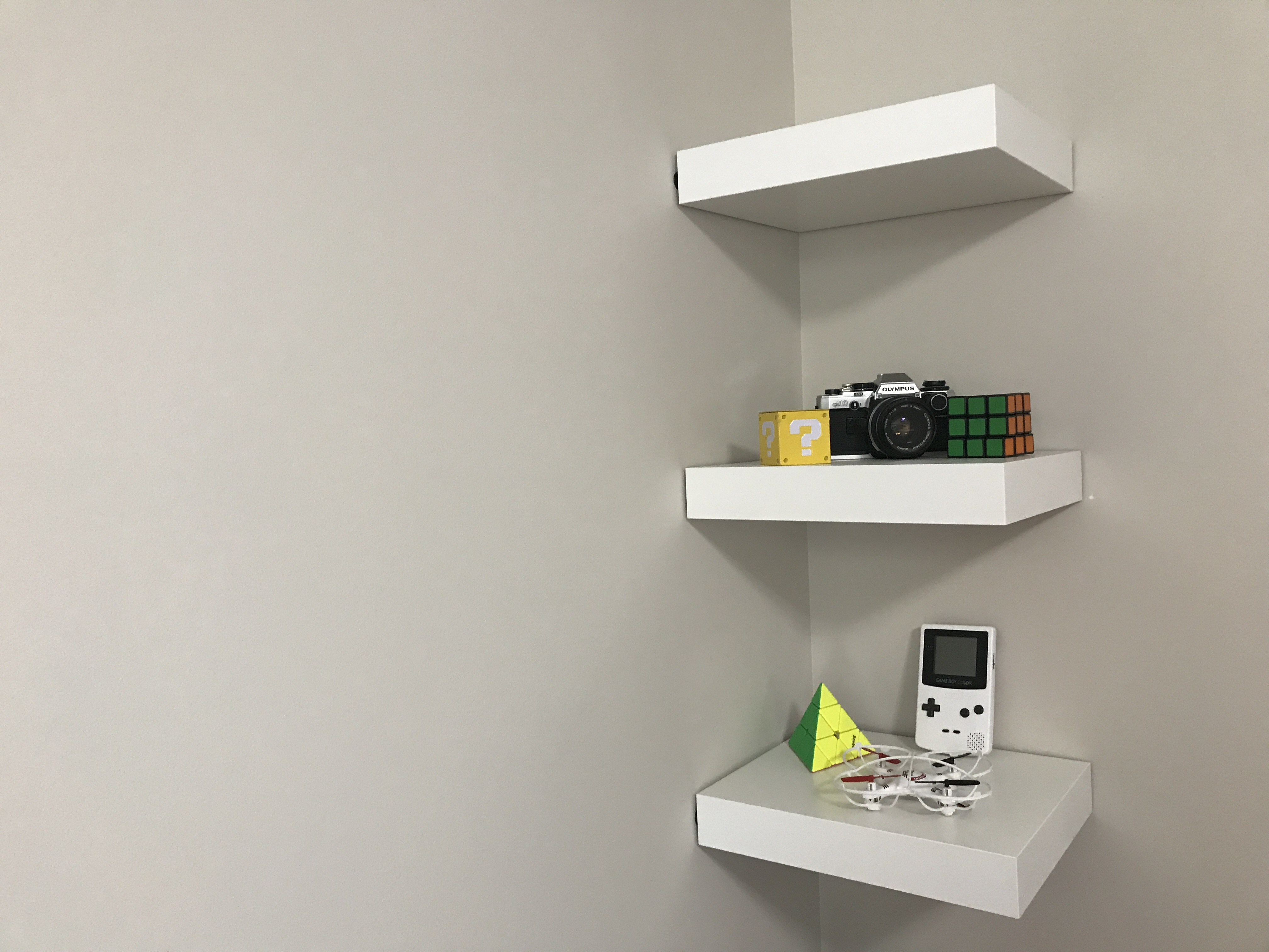 Picture of IKEA Lack Shelf Without Drilling or Nails