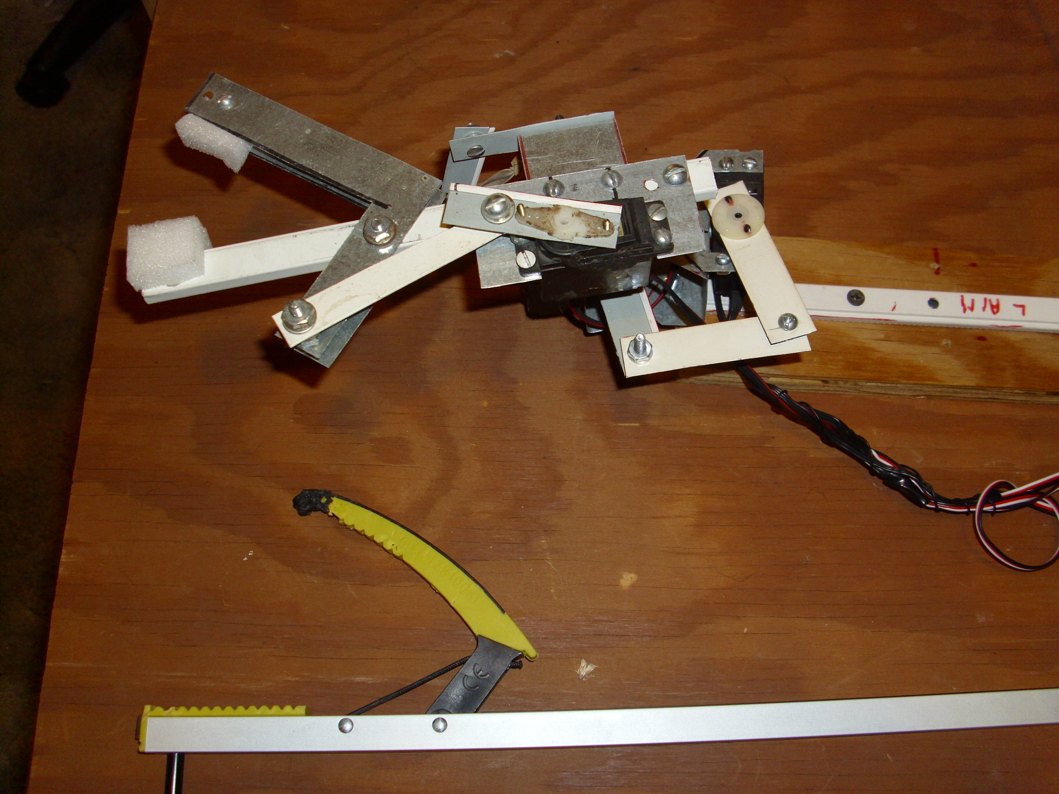Picture of Bend Metal to Construct Servo & Motor Brackets, for Robotics