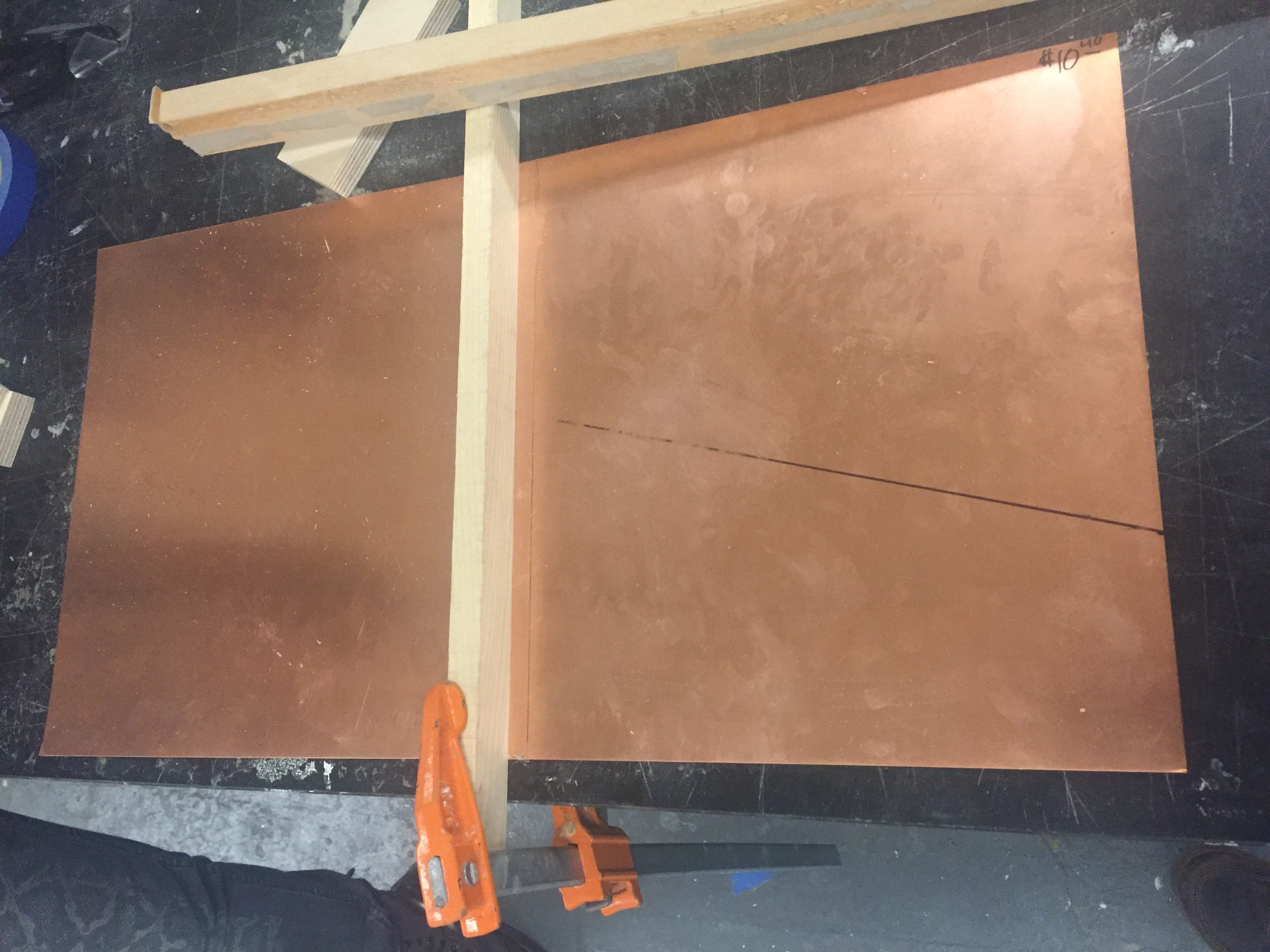 Picture of Epoxy Curing and Strip Cutting