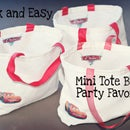 How To Sew Quick and Easy Party Favor Mini Tote Bags
