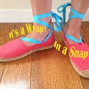Easy Espadrille Hack, Wrap in a Snap!