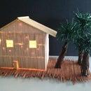Toothpick House With Working Door!