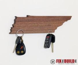 DIY Magnetic Key Holder (State Shaped)
