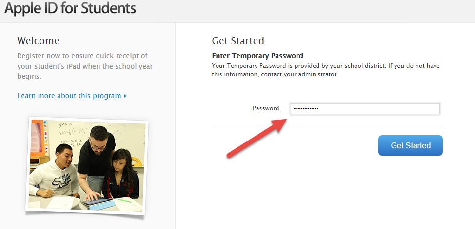 Picture of Enter Your Temporary Password