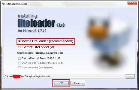 Installing Liteloader Into Minecraft