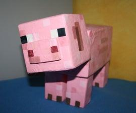 Make Your Own Minecraft Piggy Bank